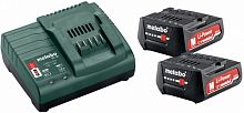 Батарея аккумуляторная Metabo Basic-Set 12V + SC30 12В 2Ач Li-Ion (З/У в компл.) (685300000)