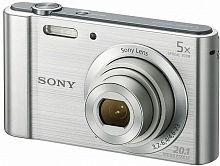 "Фотоаппарат Sony Cyber-shot DSC-W800 серебристый 20.1Mpix Zoom5x 2.7"" 720p 29Mb MS Pro/SDXC Super HAD CCD 1x2.3 IS el 5minF 30fr/s/NP-BN"