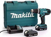 Дрель-шуруповерт Makita HP457DWE аккум. патрон:быстрозажимной (кейс в комплекте)