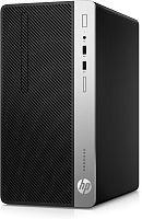 ПК HP ProDesk 400 G6 MT i3 9100 (3.6)/8Gb/SSD256Gb/UHDG 630/DVDRW/Windows 10 Professional 64/GbitEth/180W/клавиатура/мышь/черный