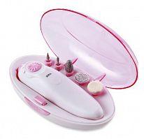 Маникюрно-педикюрный набор Sinbo SS 4052 насадок в компл.:5шт белый/розовый