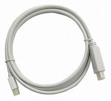 Кабель аудио-видео Buro 1.2v miniDisplayport (m)/HDMI (m) 2м. Позолоченные контакты белый (BHP MDPP-HDMI-2)