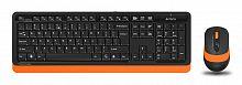 Клавиатура + мышь A4Tech Fstyler FG1010 клав:черный/оранжевый мышь:черный/оранжевый USB беспроводная Multimedia