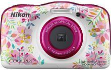 "Фотоаппарат Nikon CoolPix W150 цветы 13.2Mpix Zoom3x 2.7"" 1080p 21Mb SDXC/SD/SDHC CMOS 1x3.1 5minF HDMI/KPr/DPr/WPr/FPr/WiFi/EN-EL19"