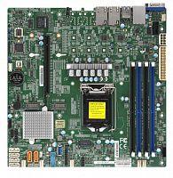 Материнская Плата SuperMicro MBD-X11SCM-F-O Soc-1151 iC246 mATX 4xDDR4 6xSATA3 SATA RAID i210AT 2хGgbEth Ret