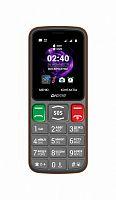 "Мобильный телефон Digma S240 Linx 32Mb серый/оранжевый моноблок 2Sim 2.44"" 240x320 0.08Mpix GSM900/1800 MP3 FM microSD max16Gb"