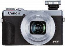 "Фотоаппарат Canon PowerShot G7 X MARKIII серебристый/черный 20.1Mpix Zoom4.2x 3"" 4K SDXC/SD/SDHC CMOS IS opt 5minF rotLCD TouLCD VF 4.4fr/s RAW 60fr/s HDMI/WiFi/NB-13L"