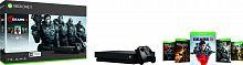 Игровая консоль Microsoft Xbox One X CYV-00331 черный в комплекте: игра: Gears 5
