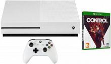 Игровая консоль Microsoft Xbox One S белый в комплекте: игра: Control
