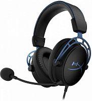 Наушники с микрофоном HyperX Cloud Alpha S черный/голубой 1м мониторы оголовье (HX-HSCAS-BL/WW)