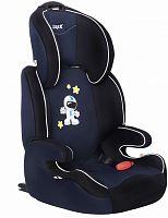 Автокресло детское Siger Вега FIX космонавт от 15 до 36 кг (2/3) Isofix синий/черный