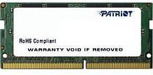 Память DDR4 8Gb 2400MHz Patriot PSD48G240081S RTL PC4-19200 CL17 SO-DIMM 260-pin 1.2В