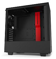 Корпус NZXT H510 CA-H510B-BR черный/красный без БП ATX 2x120mm 1xUSB3.0 1xUSB3.1 audio bott PSU