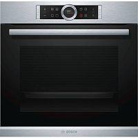 Духовой шкаф Электрический Bosch HBG633TS1 черный/серебристый