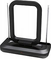 Антенна телевизионная Denn DAA250 35дБ активная черный каб.:1м