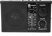 Радиоприемник настольный Harper HDRS-288 черный USB SD