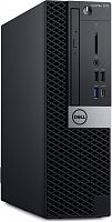 ПК Dell Optiplex 7070 SFF i7 9700 (3)/8Gb/1Tb 7.2k/SSD256Gb/RX 550 4Gb/DVDRW/CR/Windows 10 Professional 64/GbitEth/WiFi/BT/200W/клавиатура/мышь/черный/серебристый