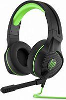 Наушники с микрофоном HP Pavilion Gaming 400 черный/зеленый 2м мониторные оголовье (4BX31AA)