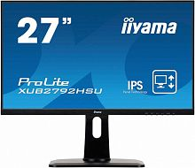 "Монитор Iiyama 27"" ProLite XUB2792HSU-B1 черный IPS LED 4ms 16:9 HDMI M/M матовая HAS Pivot 1000:1 250cd 178гр/178гр 1920x1080 D-Sub DisplayPort FHD USB 6.8кг"