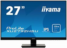 "Монитор Iiyama 27"" ProLite XU2792HSU-B1 черный IPS LED 4ms 16:9 HDMI M/M матовая 1000:1 250cd 178гр/178гр 1920x1080 D-Sub DisplayPort FHD USB 5.1кг"