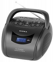 Аудиомагнитола Supra BB-24MUS черный 3Вт/MP3/FM(dig)/USB/SD