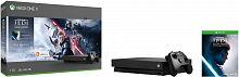 Игровая консоль Microsoft Xbox One X CYV-00421 черный в комплекте: игра: Star Wars Jedi Fallen Order