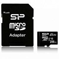 Флеш карта microSDXC 256Gb Class10 Silicon Power SP256GBSTXBU1V10 Elite w/o adapter