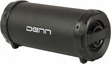 Колонка порт. Denn DBS TUBE черный 8W 2.0 BT/USB 10м 1200mAh