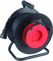 Удлинитель силовой Эра RP-1-2x1.0-30m (Б0001675) 2x1.0кв.мм 1розет. 30м ПВС 10A катушка черный