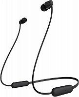 Гарнитура вкладыши Sony WI-C200 черный беспроводные bluetooth шейный обод (WIC200B.E)