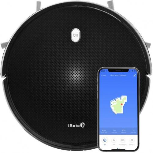 Пылесос-робот iBoto Smart V720GW Aqua черный фото 3