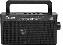 Радиоприемник настольный Harper HDRS-377 черный USB microSD