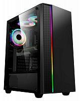 Корпус Formula V-LINE 7603 черный без БП ATX 6x120mm 2xUSB2.0 1xUSB3.0 audio bott PSU