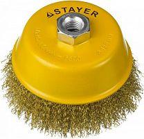Щетка дисковая по металлу Stayer 35125-125 d=125мм (угловые шлифмашины)