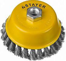 Щетка дисковая по металлу Stayer 35128-120 d=120мм d(посад.)=22мм (угловые шлифмашины)