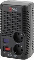Стабилизатор напряжения Эра СНК-300 электронный однофазный черный