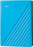 "Жесткий диск WD Original USB 3.0 4Tb WDBPKJ0040BBL-WESN My Passport 2.5"" голубой"