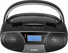 Аудиомагнитола Telefunken TF-SRP3446 черный 3Вт/MP3/FM(dig)/USB/SD