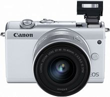 "Фотоаппарат Canon EOS M200 белый 24.1Mpix 3"" 4K WiFi 15-45 IS STM LP-E12 (с объективом)"