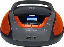 Аудиомагнитола Telefunken TF-CSRP3496B черный/оранжевый 2Вт/CD/CDRW/MP3/FM(dig)/USB/BT/SD