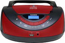 Аудиомагнитола Telefunken TF-CSRP3497B черный/красный 2Вт/CD/CDRW/MP3/FM(dig)/USB/BT/SD/MMC
