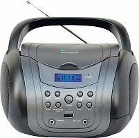 Аудиомагнитола Telefunken TF-CSRP3499B серый/черный 3Вт/CD/CDRW/MP3/FM(dig)/USB/BT
