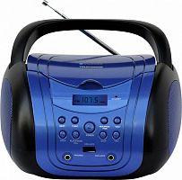 Аудиомагнитола Telefunken TF-CSRP3499B синий/черный 3Вт/CD/CDRW/MP3/FM(dig)/USB/BT