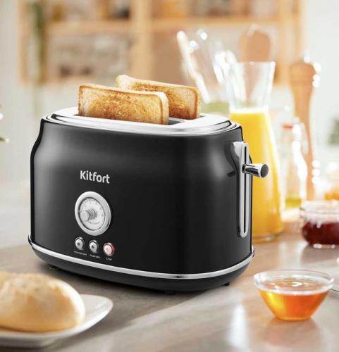 Тостер Kitfort KT-2038-1 685Вт черный фото 7