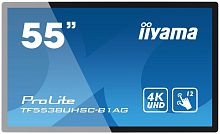 "Панель Iiyama 55"" TF5538UHSC-B1AG серый IPS LED 8ms 16:9 DVI HDMI M/M глянцевая 1100:1 500cd 178гр/178гр 3840x2160 D-Sub DisplayPort FHD 41кг"