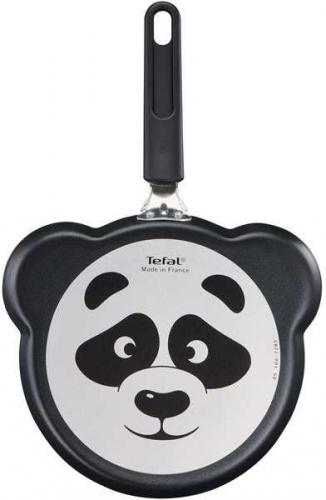 Сковорода блинная Tefal Panda B3781072 круглая 22см ручка несъемная (без крышки) черный (2100105149) фото 3
