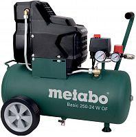 Компрессор поршневой Metabo Basic 250-24 W OF безмасляный 120л/мин 24л 1500Вт зеленый