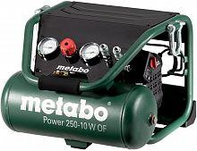 Компрессор поршневой Metabo Power 250-10 W OF безмасляный 120л/мин 10л 1500Вт зеленый