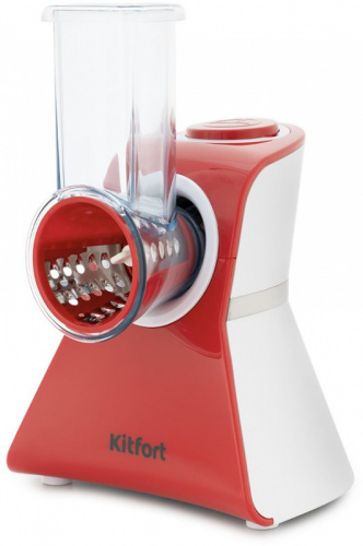 Измельчитель электрический Kitfort КТ-1382 150Вт белый/красный