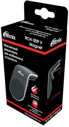 Держатель Ritmix RCH-009 V Magnet магнитный черный (80000771) фото 7